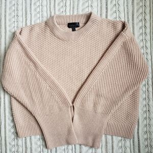 Topshop knit blush pink sweater split cuffs